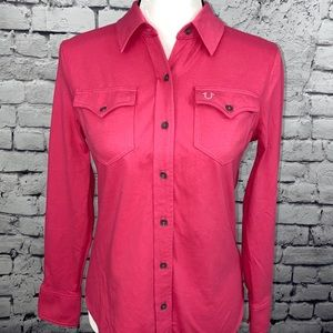 True Religion Button Down Long Sleeve Top